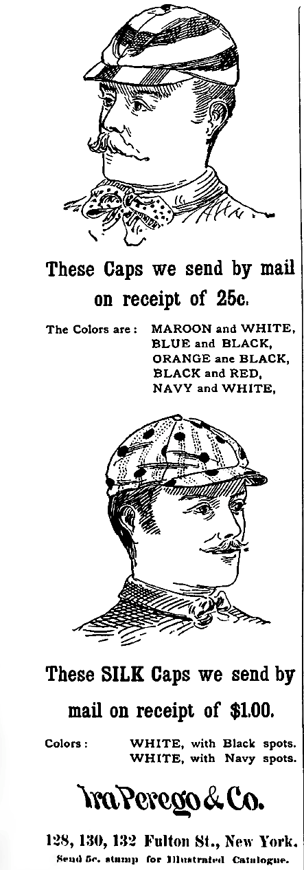 Bicycle caps 1889